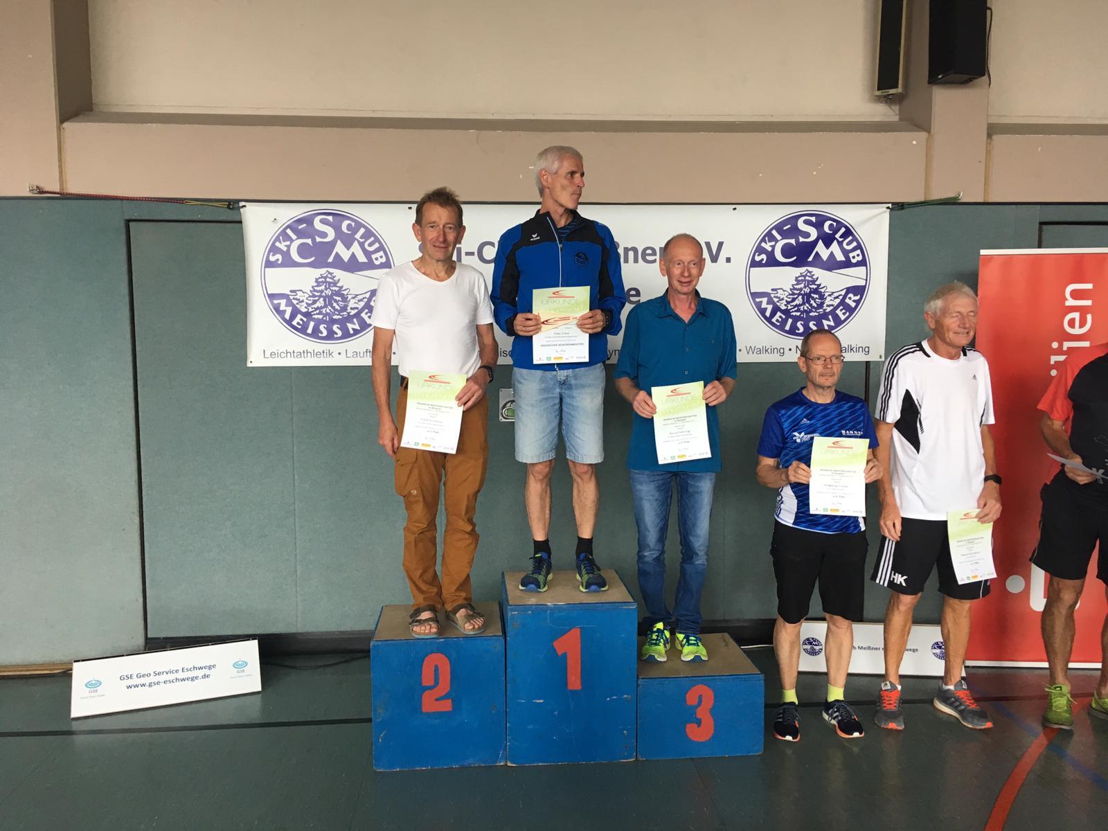 M60 Siegerehrung: Klaus Kirschner und Bernd Mehring