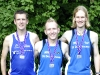 1. Platz Mannschaften M30/35: Oliver Seiwert, Mike Schwarz und Normen Stiebig