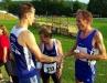 10000m: Die ersten drei Platzierten, von links Ralf Paulus, Klaus Kirschner und Herbert Wilke