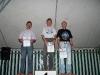 10000m: Siegerehrung der Altersklasse M50, von links Heinrich Ochs, Klaus Kirschner und Bernd Mehring