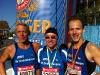 Hans-Reinhard Moll, Ralf Paulus und Horst Wiegand nach dem Lauf