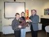 Vereinsmeisterehrung, von links: Klaus Kirschner, Marianne Domes und Uwe Möhl.